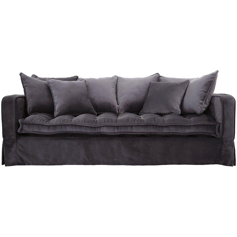 Greenwich 3-sits soffa i velvet iron grey från Artwood.