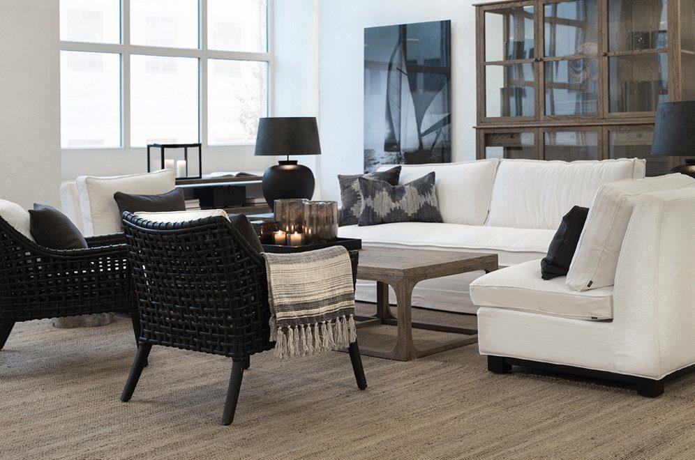 Artwood miljöbild med Aspen fåtöljer, Midtown soffa och Denver soffbord.