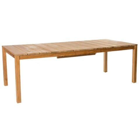 Oxnö förlängningsbart matbord i teak med måtten 220/300x100 cm.