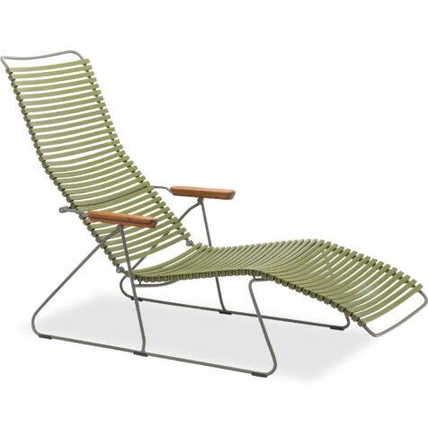 Click däckstol från Houe i olivgrönt.