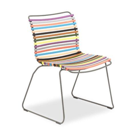 Click matstol i multifärgat från Houe.