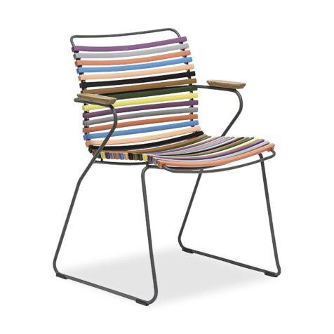 Click karmstol med låg rygg i multicolor 1.