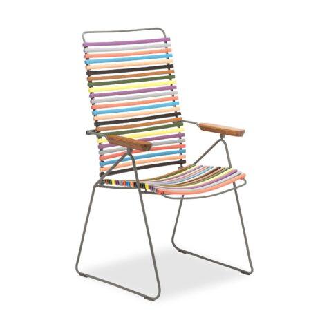 Click positionsstol från Houe i multifärgat.