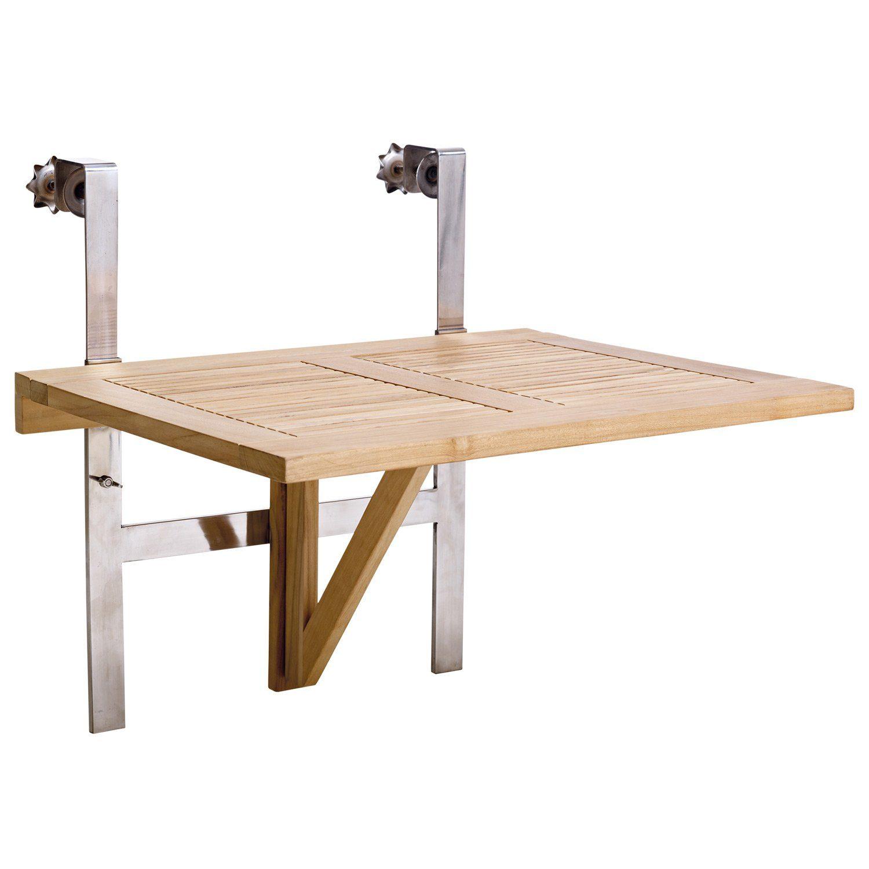 Balkongbord i teak och stål från Cinas.