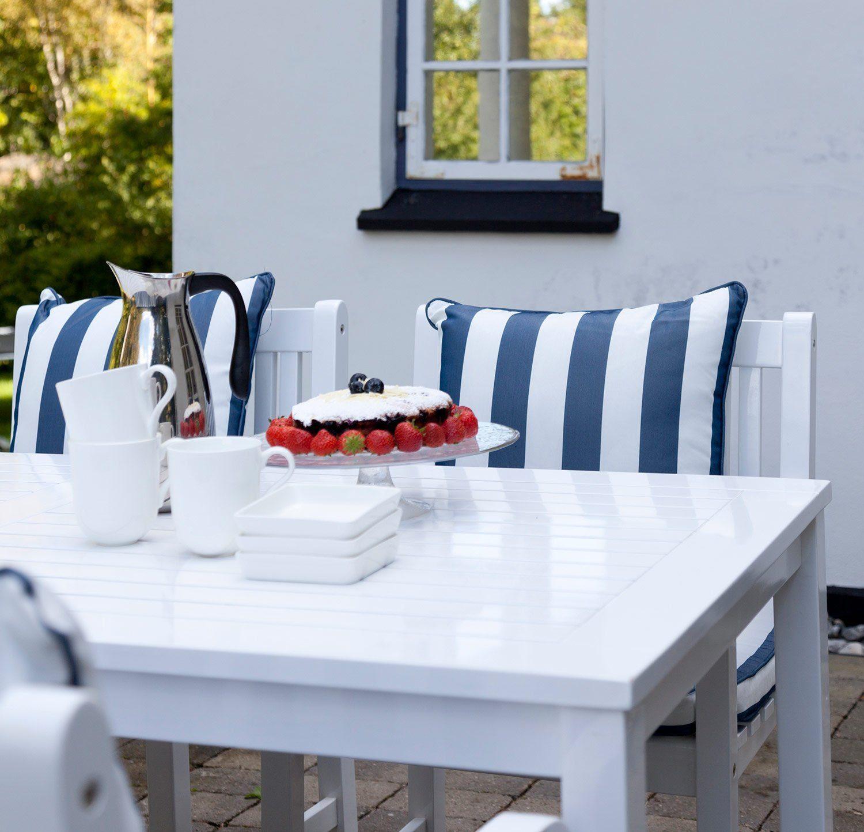 Rosenborg bord i vitlackad mahogny från Cinas.