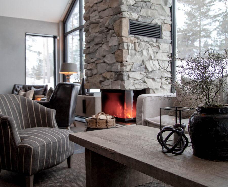 Miljöbild Plint soffbord, cholet fåtölj från artwood