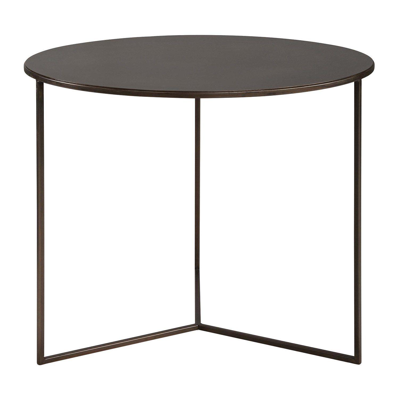 Ceds är ett soffbord eller sidobord från Artwood i borstad stål.