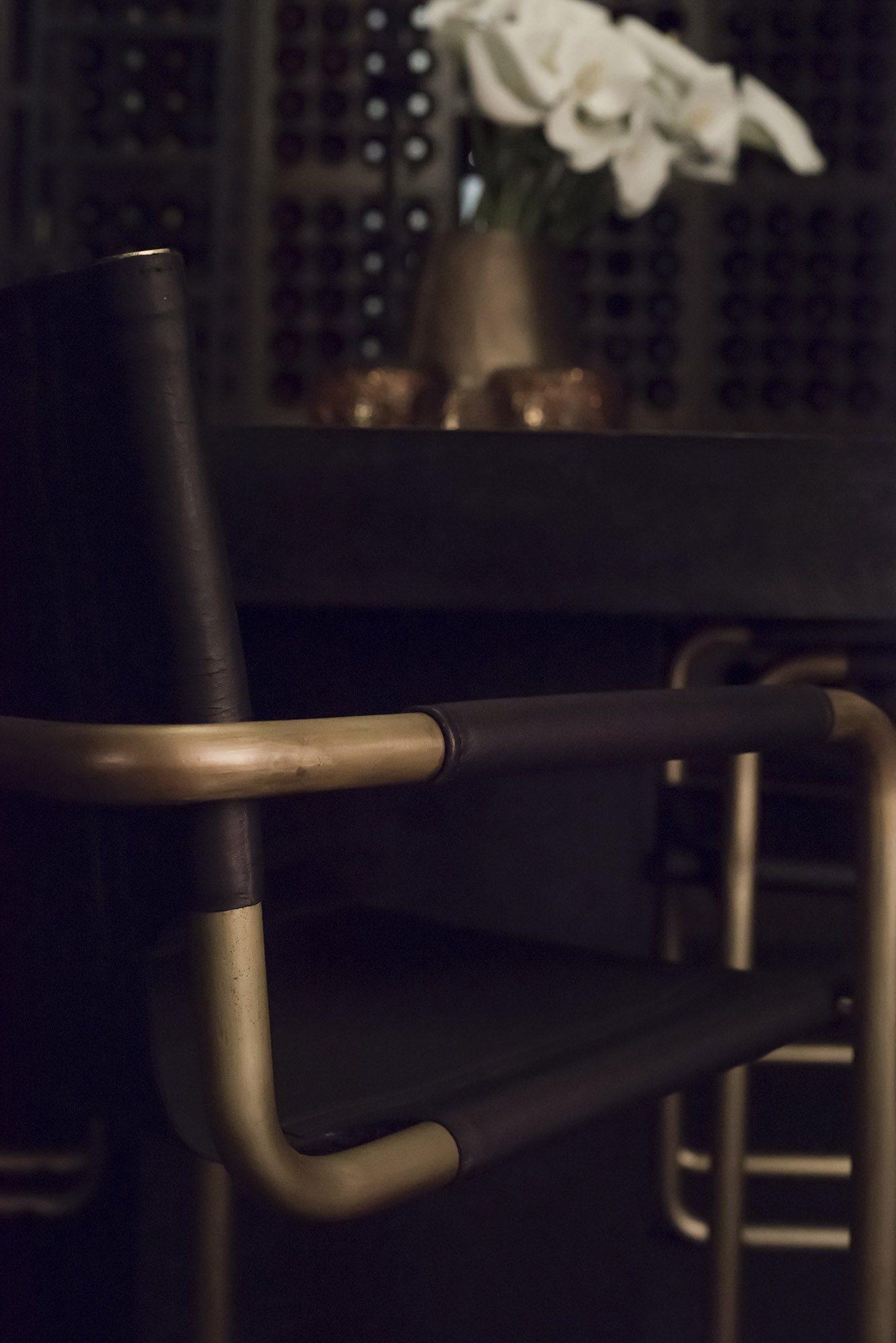 Detaljbild på Gianni stol.