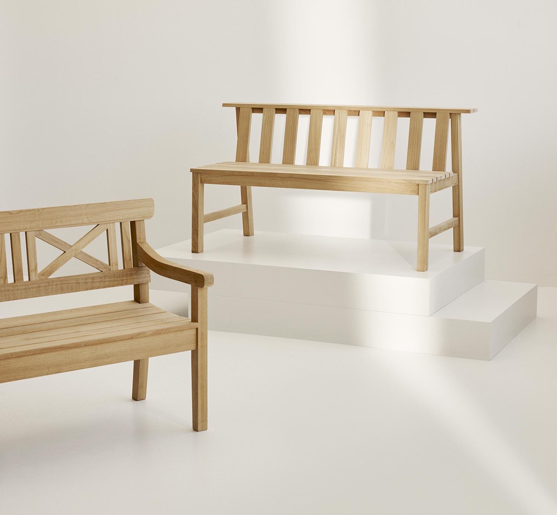 Plank och Drachmann soffa i teak från Skagerak.