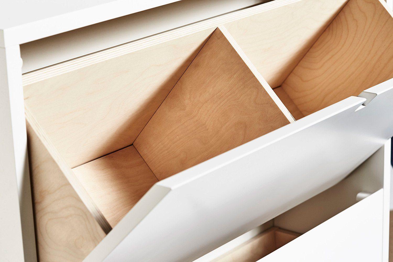 Detaljbild på Falsterbo skoskåp från Mavis.
