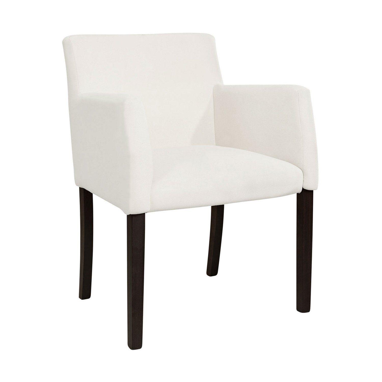 Boston karmstol från Artwood med svarta stolsben utan överdrag.