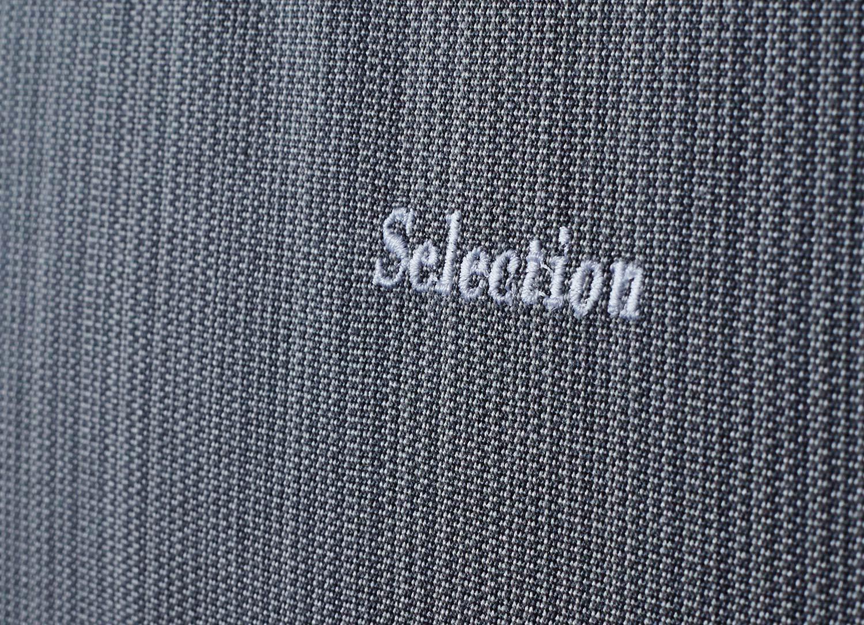 Detaljbild på Selection dyna i ljusgrått från Fritab.