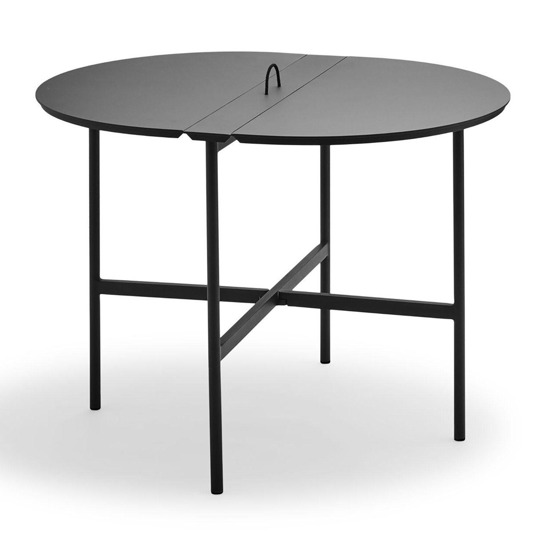 Picnic klaffbord i antracitgrå aluminium från Skagerak.