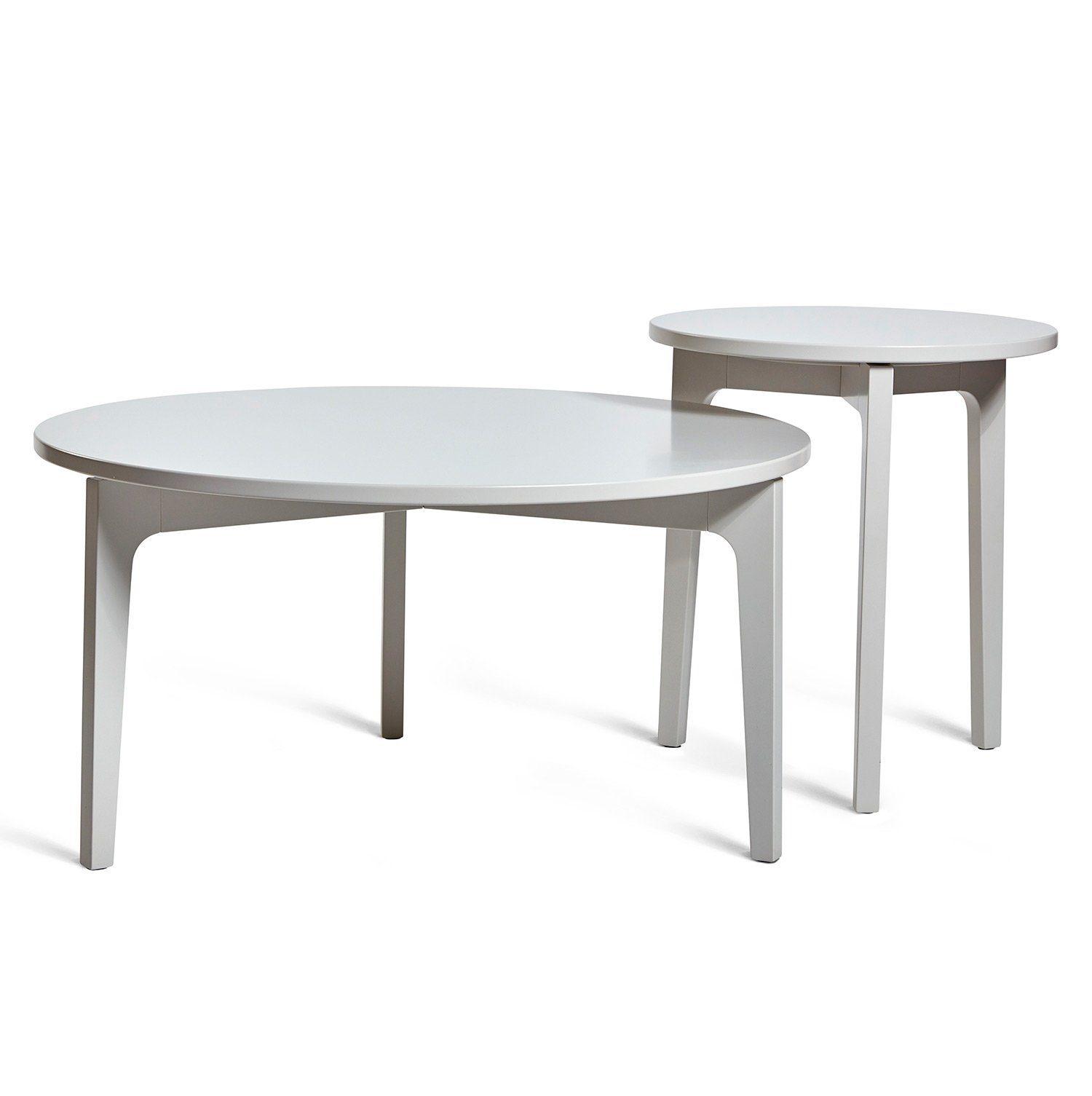 Höllviken soffbord och sidobord i ljusgrått från Mavis.