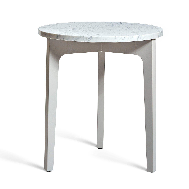 Höllviken sidobord i ljusgrått med marmorskiva från Mavis.