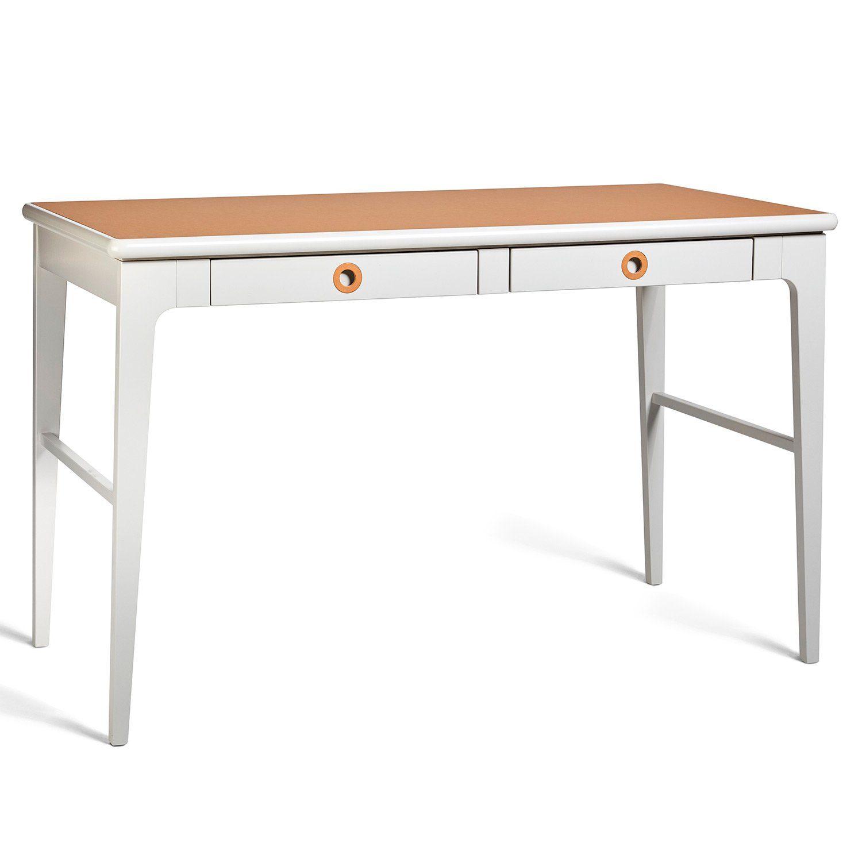 Höllviken skrivbord i ljusgrått från Mavis.
