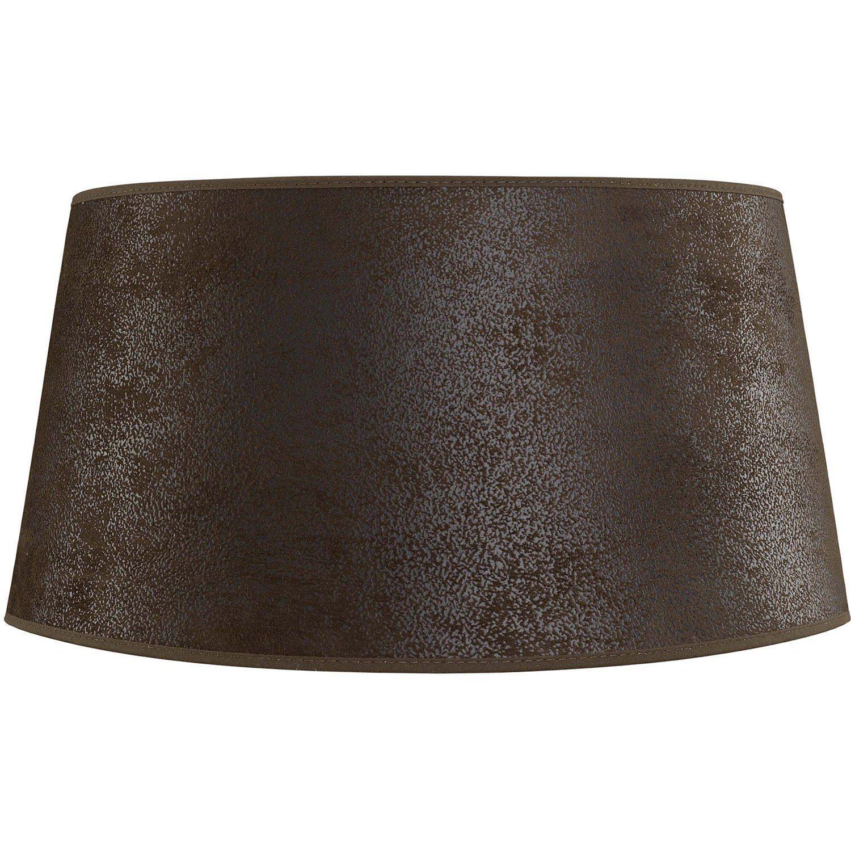 Clasiic lampskärm brun mocka 50 cm låg.