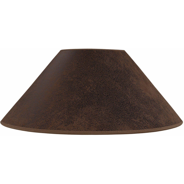 Lampskärm plan 56 cm brun från Artwood.