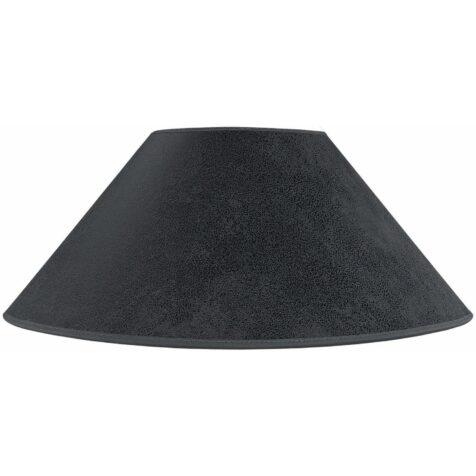 Plan lampskärm från Artwood i grå mockatyg.