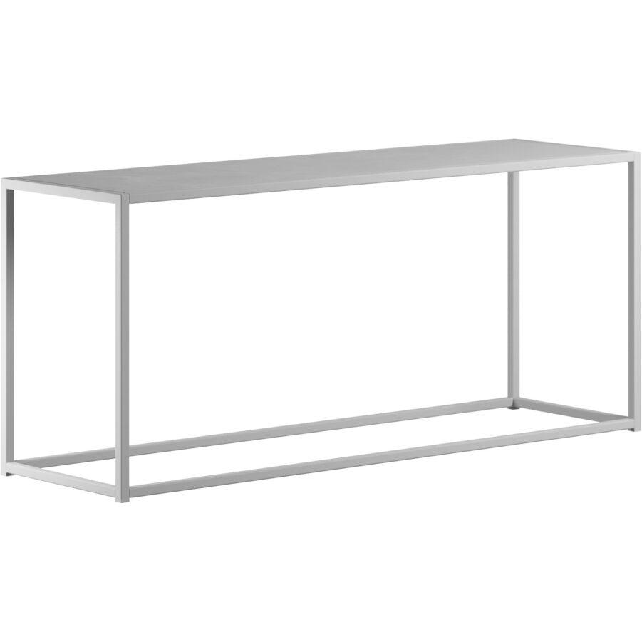 DesignOf bänk i vitlackad stål.