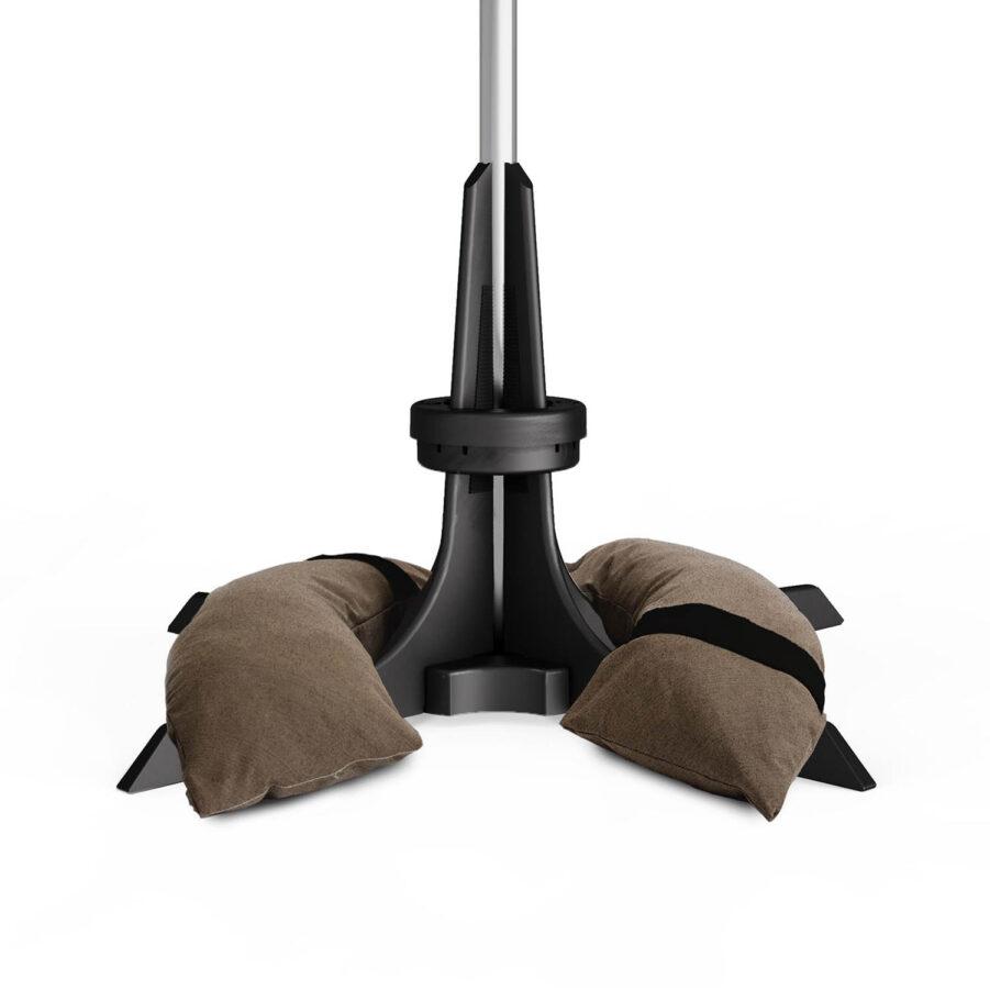 Baser parasollfot 30 kg i mörkbrunt.