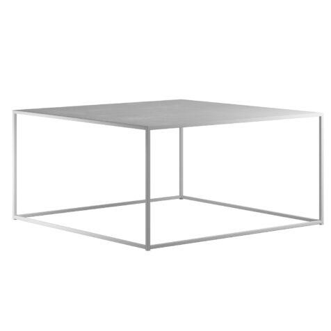 DesignOf soffbord i storleken 100x100 cm i vitt.