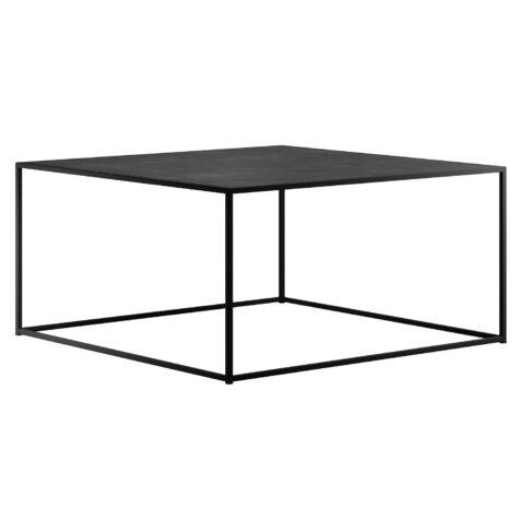 DesignOf soffbord i storleken 100x100 cm i svart.