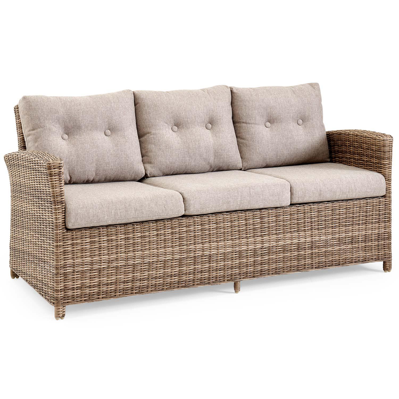 Soho 3-sits soffa konstrottingen rustik från Brafab.