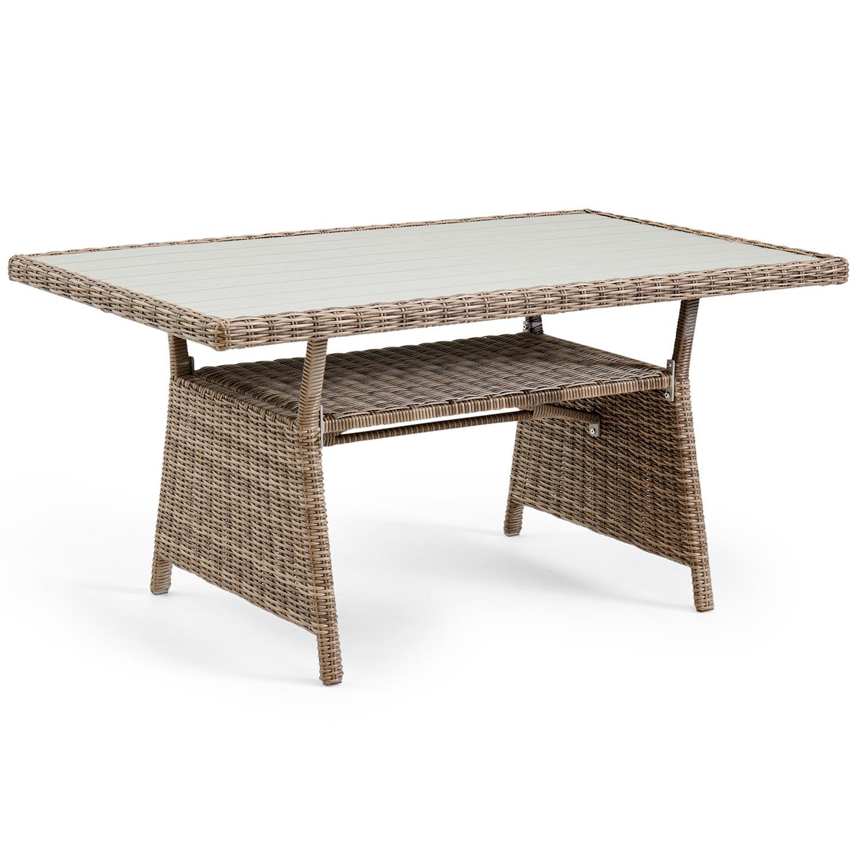 Soffbord till Soho utemöbler i konstrotting från Brafab.