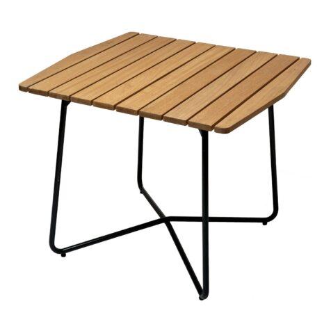 B30 bord i oljad ek med mörkgrönt stativ från Grythyttan Stålmöbler.