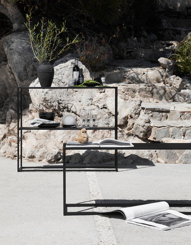 Domo Outdoor produkter i svart från Domo Design.