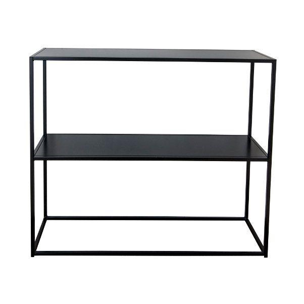 Sideboard i svartlackat rostfritt stål från Domo Design.