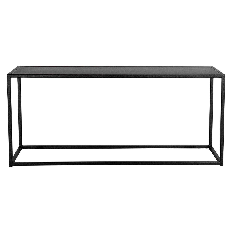 Bänk i svartlackat rostfritt stål från Domo Design.