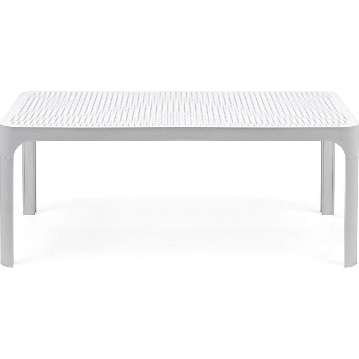 Net soffbord i vit plast från Brafab.