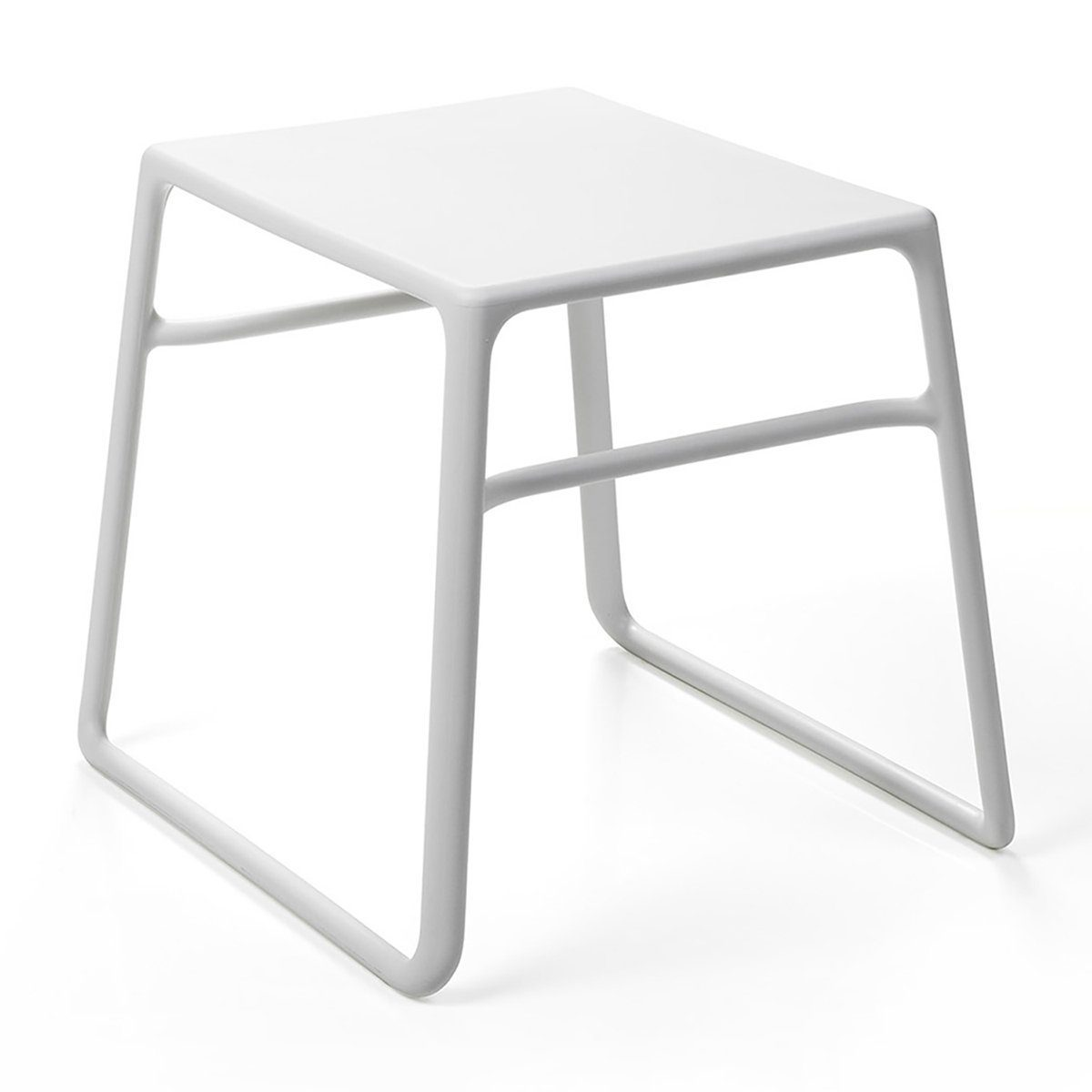 Pop sidobord från Nardi i vit plast.