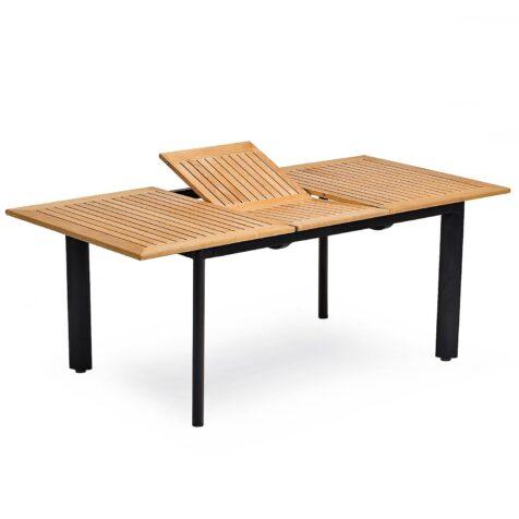 Nydala förlängningsbord i svart och teak från Hillerstorp.