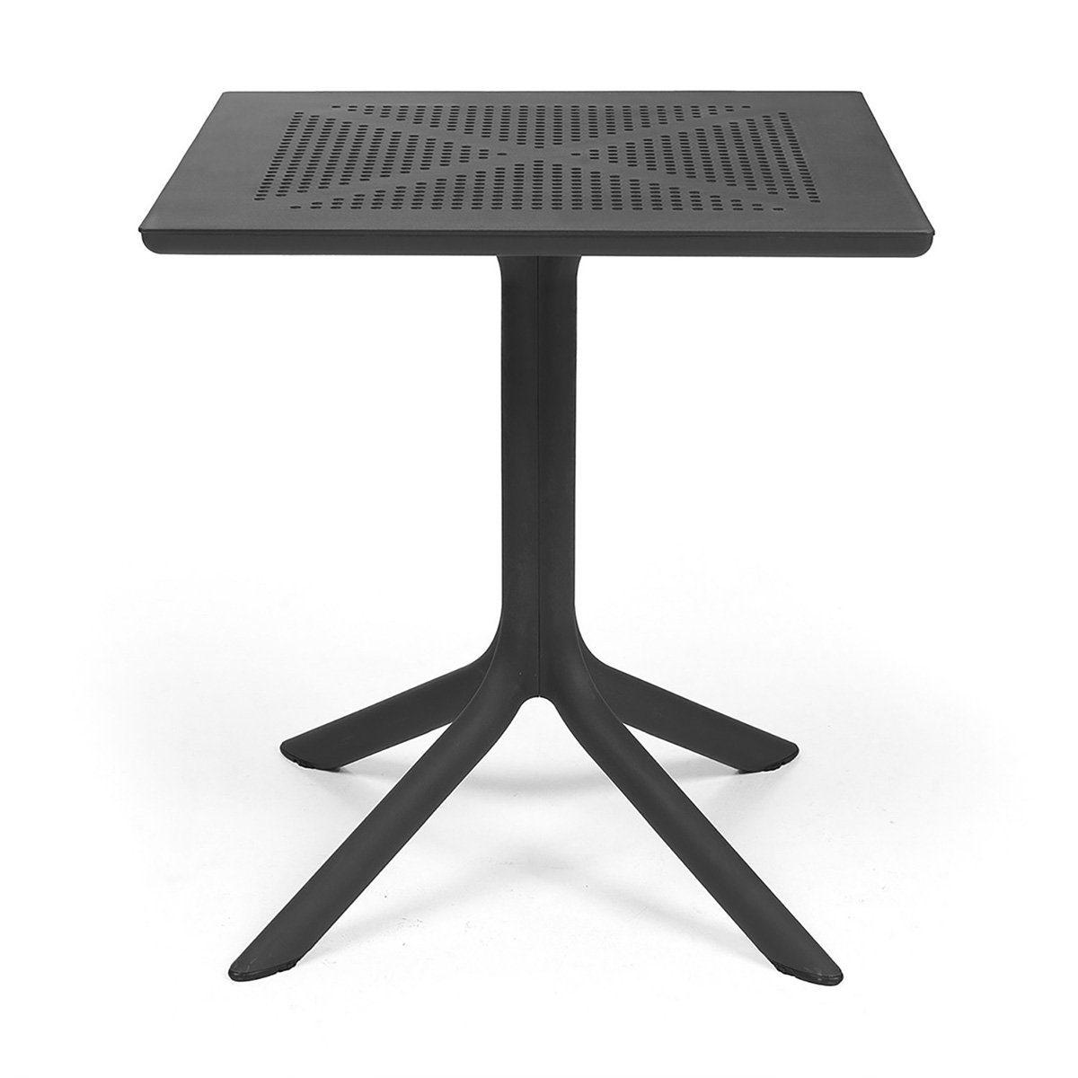 Clip cafébord i antracitgrå plast från Brafab.