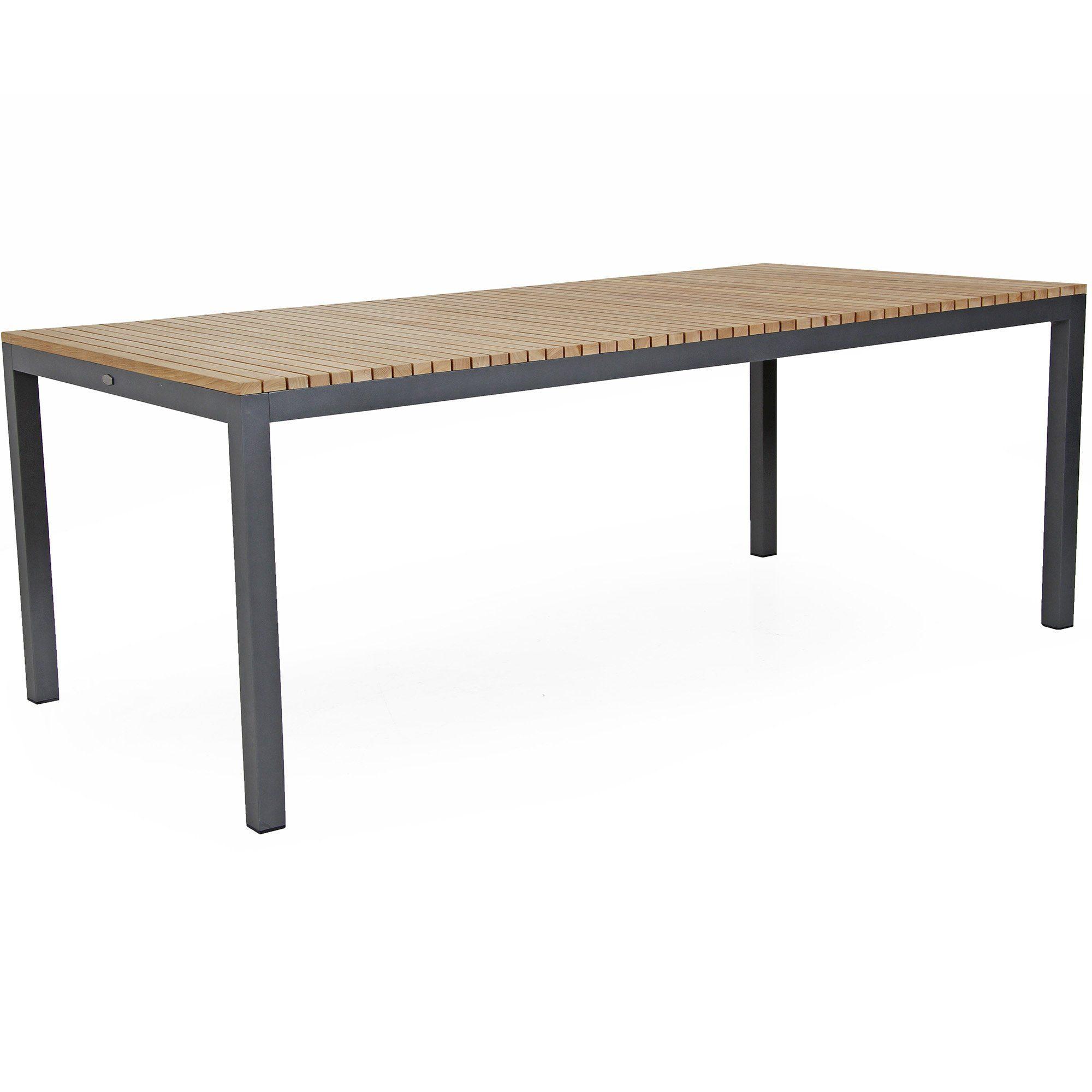 Zalongo matbord från Brafab i teak och aluminium.