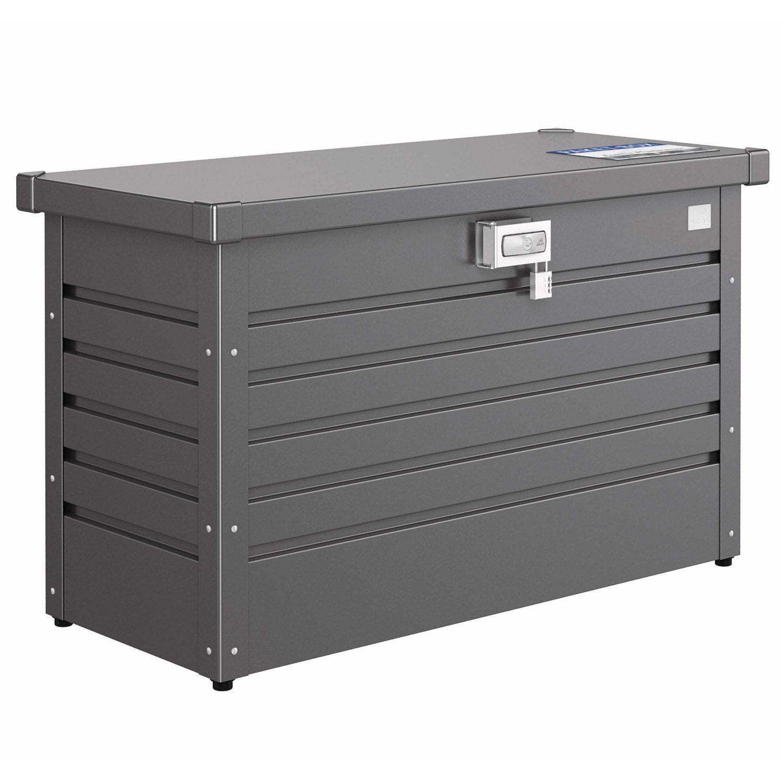 Paketbox från Biohort i mörkgrått.