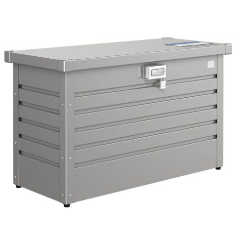 Paketbox från Biohort i grått.