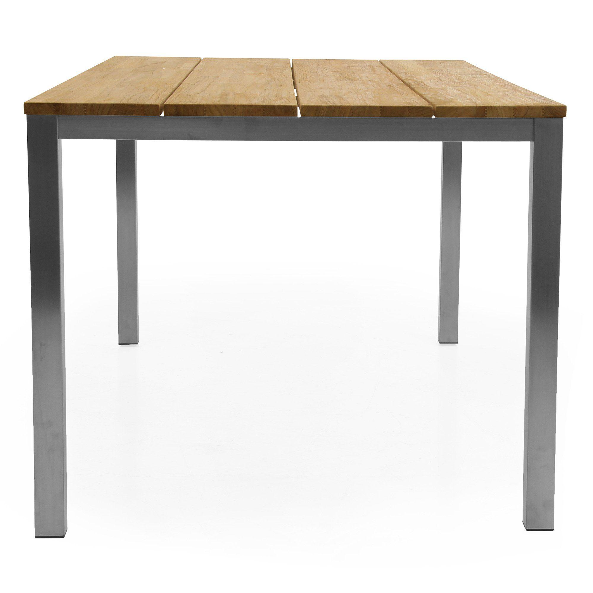 Hinton matbord i stål och teak från Brafab.