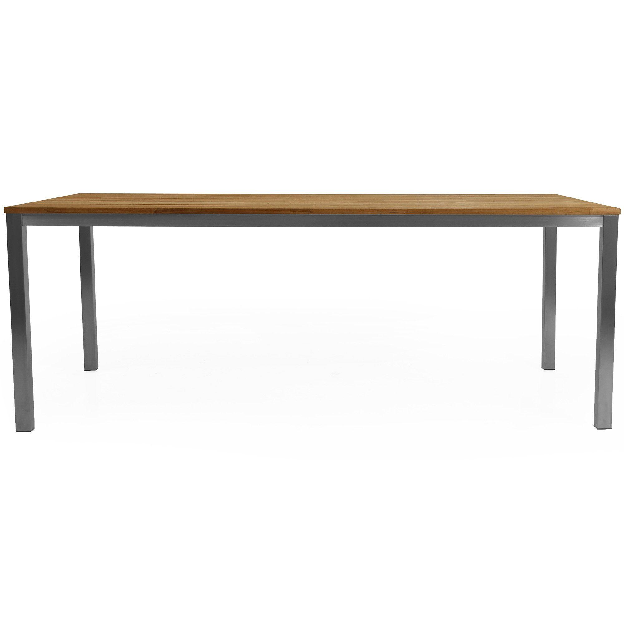 Matbordet Hinton från Brafab med bordsskiva i teak.