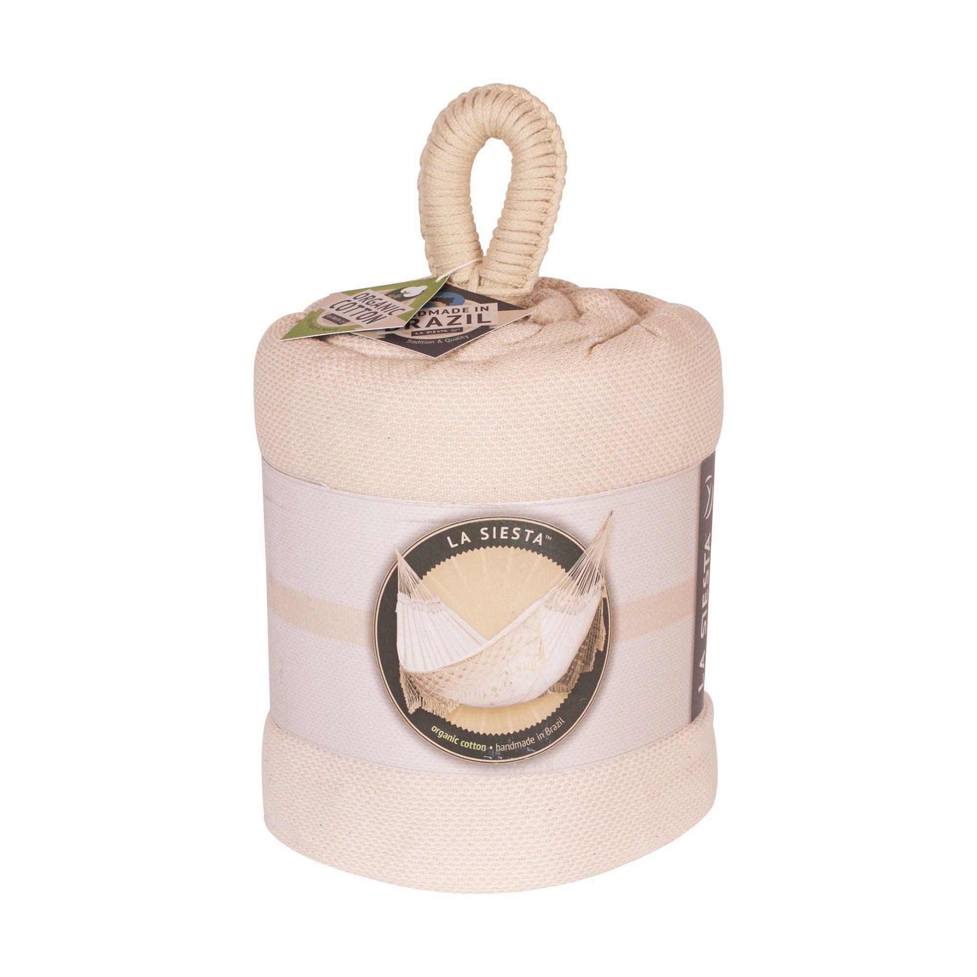 Produktbild på Bossanova Champagne dubbel hängmatta från La Siesta.