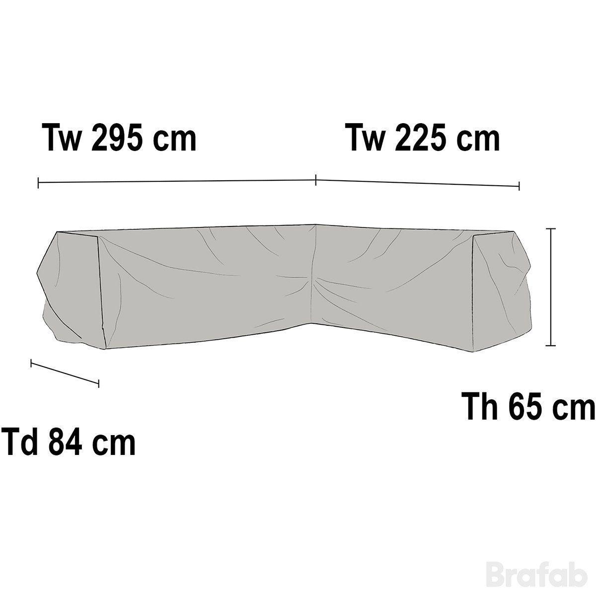 Weldon hörnsoffskydd höger i polyester från Brafab.