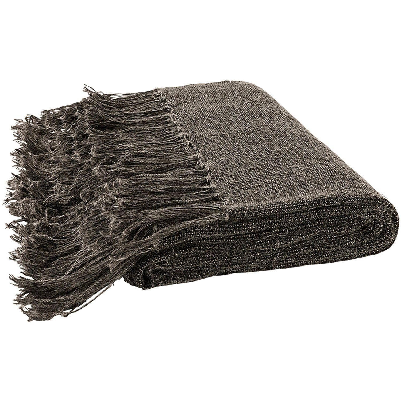 Sola pläd i mörkgrå linne från varumärket Artwood.