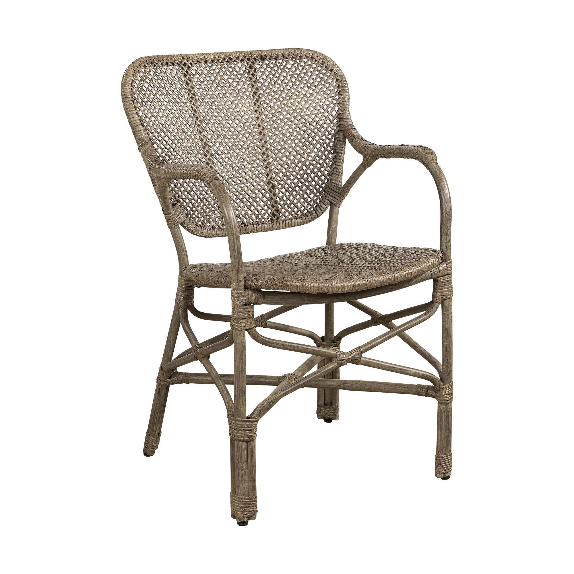Bistro karmstol från Artwood, här i färgen antique grey.