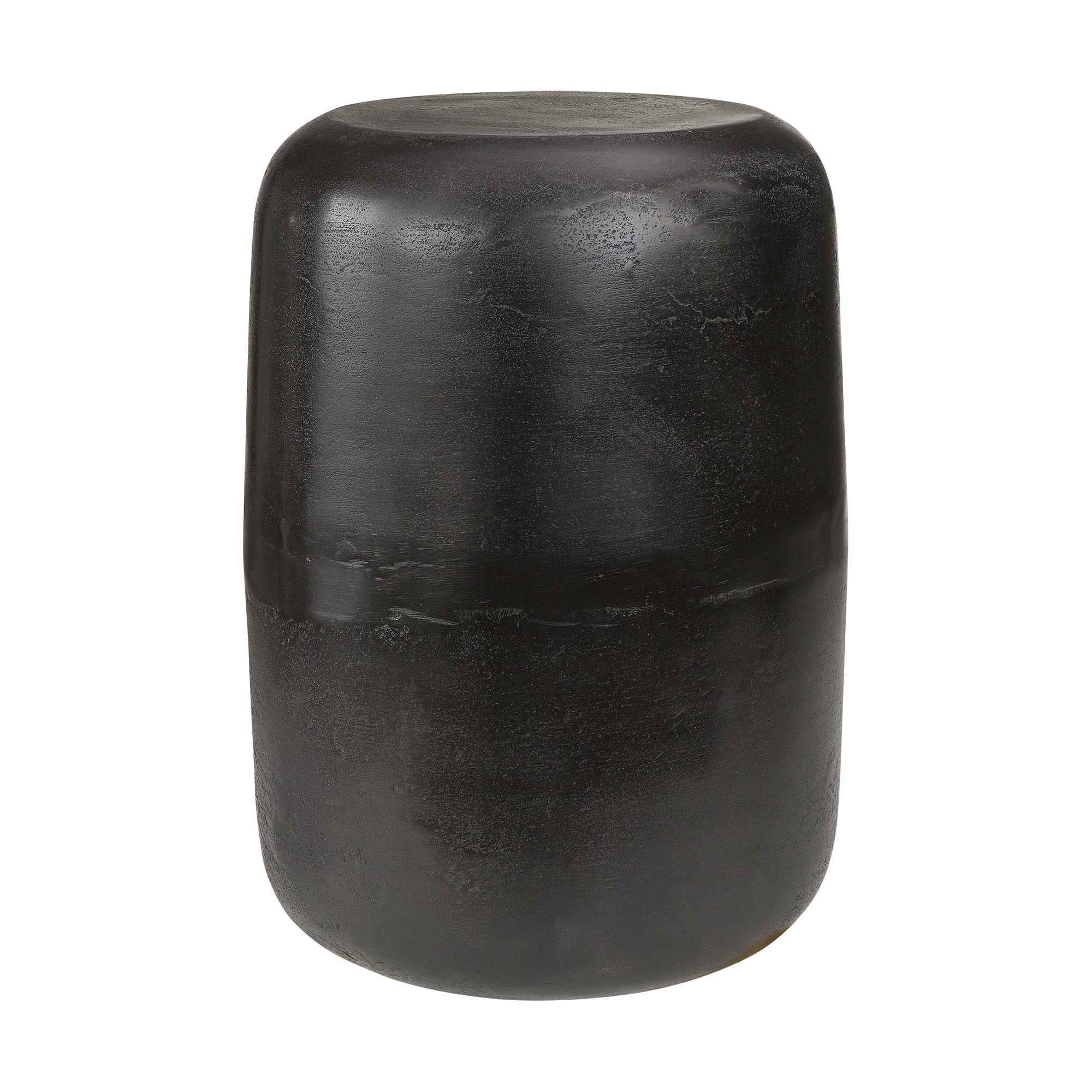 Lorenzo sidobord eller pall tillverkat i svart aluminium från leverantören Artwood.