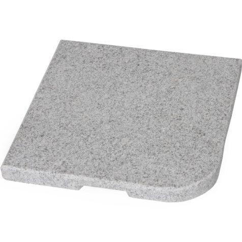 Abetone parasollfot i en mörk grå granit med grov yta.