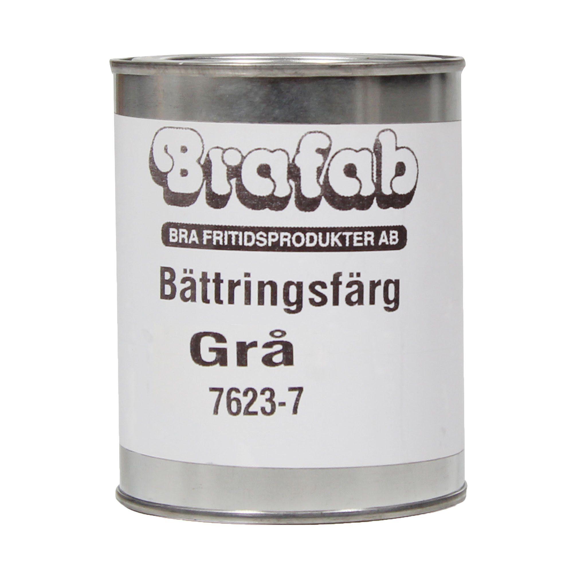 Bättringsfärg för furumöbler i grått från Brafab.
