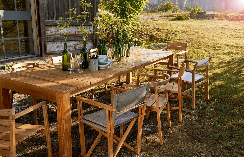 Oxnö matbord med Oxnö, Djurö och Kryss matstolar.
